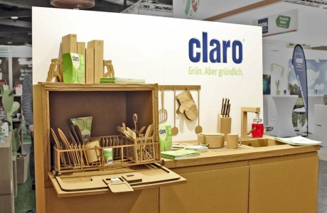 Claro products Messestand
