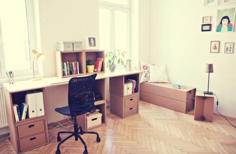 die wg kurtl m bel aus karton. Black Bedroom Furniture Sets. Home Design Ideas