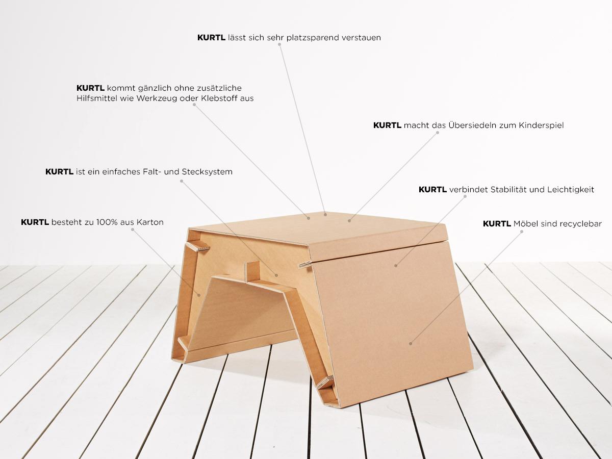Tisch Aus Pappe stelzer » kurtl | möbel aus karton